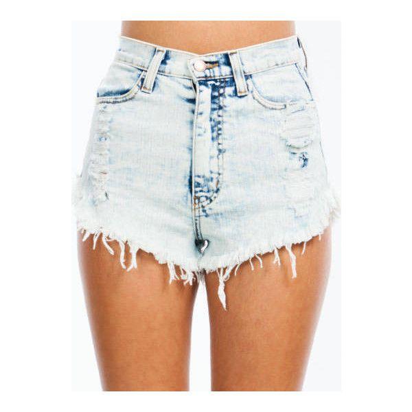 High-Waisted Acid Wash Me Shorts ($45) ❤ liked on Polyvore featuring shorts, bottoms, high-waisted shorts, high-rise shorts, high rise shorts, acid wash shorts and high-waisted acid wash shorts
