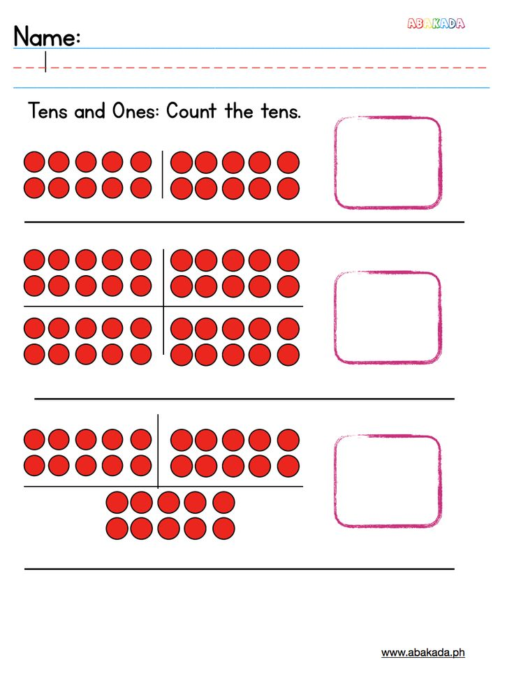 Count the tens. Practice counting place values