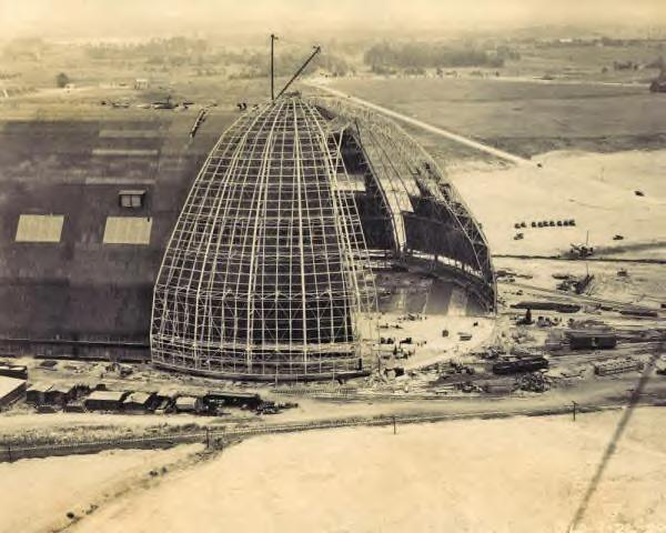 Akron Ohio Goodyear Zeppelin Airdock construction.