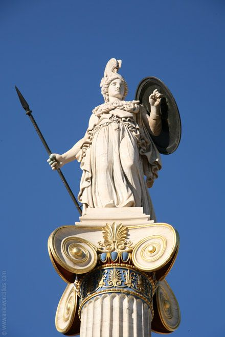Statue of Athena at the Academy