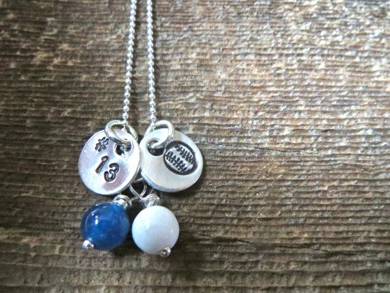 **NEW NECKLACE** Sports Necklace with team number - Baseball necklace By Rawkette