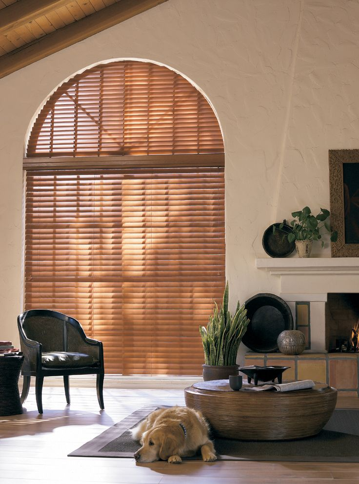 "2"" Wood and Faux wood blinds can be ordered for Arch Top & Angled Windows. Please call Window Inspirations Winnipeg for details"
