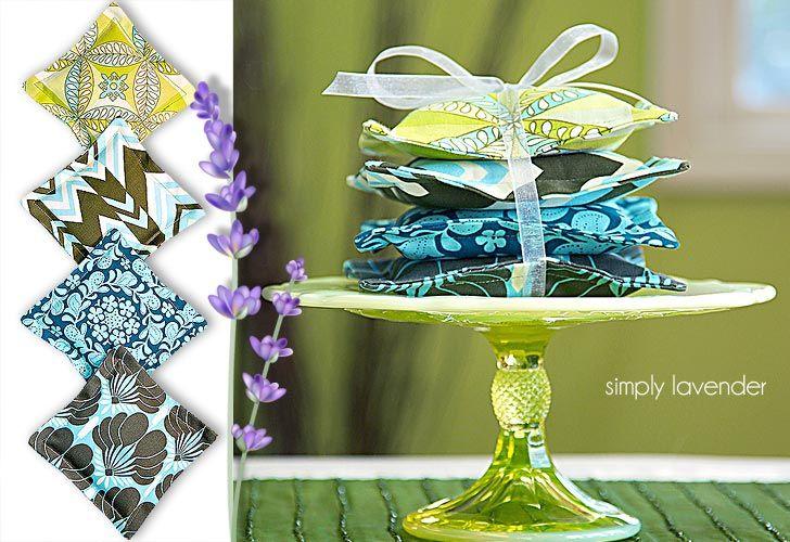 Last Minute Gift Pillows: Fragrant Lavender Sachets