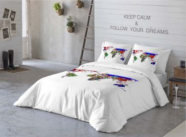 Komplet pościeli Maps Country #bedding #textiles #home #inspiration #dream #pillow #cases #sypialnia #bedroom