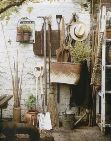 'Garden Tools from Floradora, Inc.' I love how this looks, it inspires me to make things grow www.readingswithabigail.com