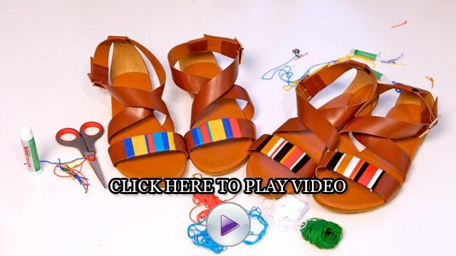 DIY Tribal-Print Sandals - I Spy DIY, Jenni Radosevich   Atlanta - DailyCandy