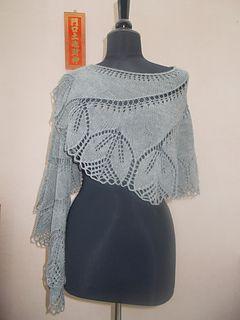 Begonia Swirl shawl free knitting pattern  (In sehr vielen Sprachen erhältlich.)