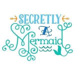 Silhouette Design Store: secretly a mermaid