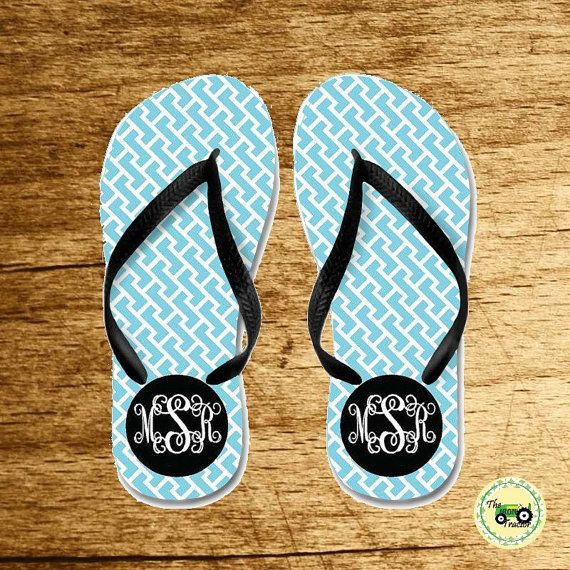 Personalized Flip Flops  great for adults youth by TheIronTractor