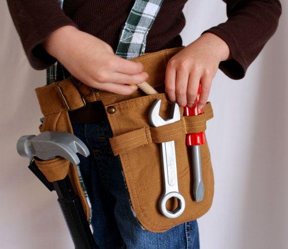 Toddler Tool Belt Kids Tool Belt Pretend by LittleBuckarooShop