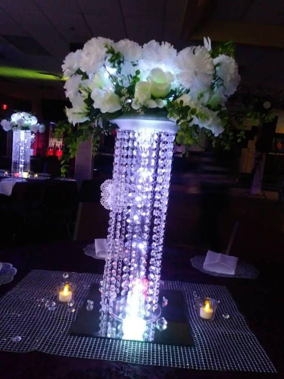 Chandelier wedding center piece for tabletabletop