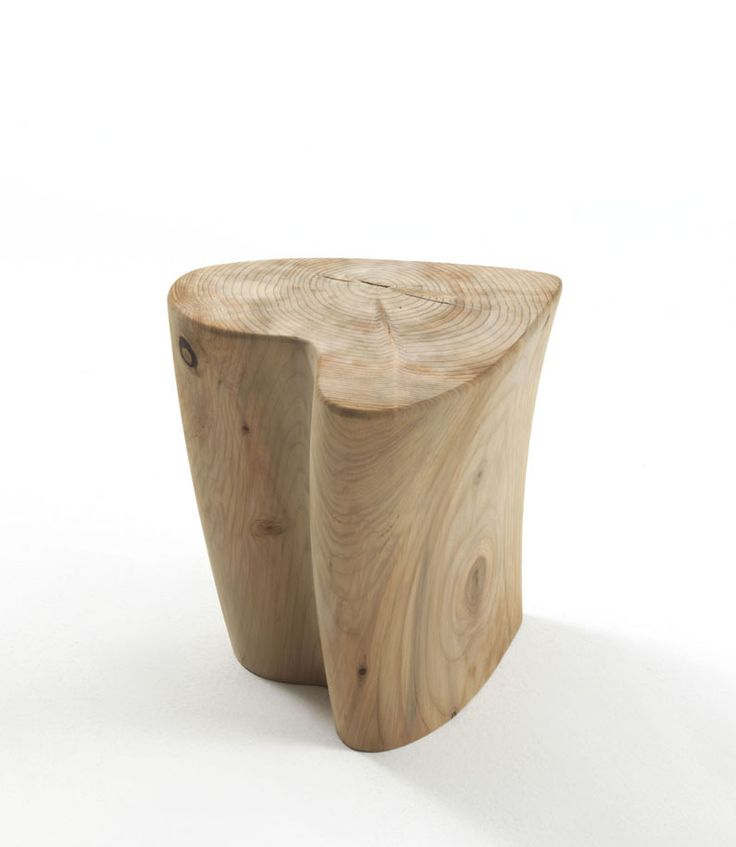 Sgabello One Love is a sculptural stool, inspired by the natural world. Free-standing structure, which is, in fact, a scented cedar tree stump. Sgabello One Love is by the design couple Gianni Veneziano and Luciana Di Virgilio. #designbest