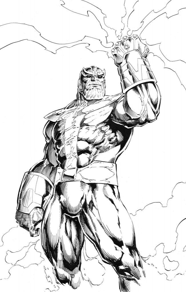 I Drew Thanos A Few Weeks Back While I Was Going Through The