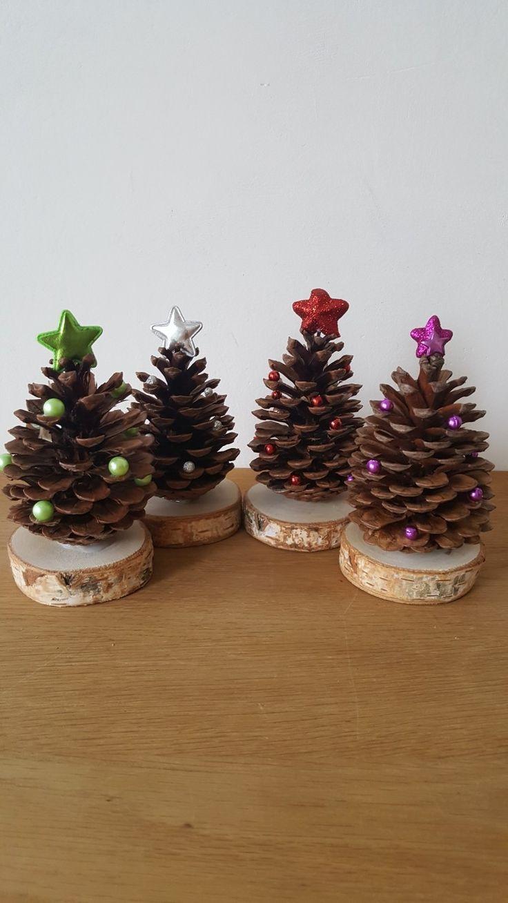 Legende Tannenzapfen als Weihnachtsbaum – #als # Tannenzapfen # Weihnachtsbäume