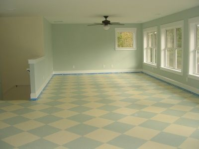 painted floor: Living Rooms, Paintings Sub Floors, Dreams, Crafts Rooms, Checkerboard Floors, Colors Schemes, Back Porches, Paintings Floors, Paintings Subfloor