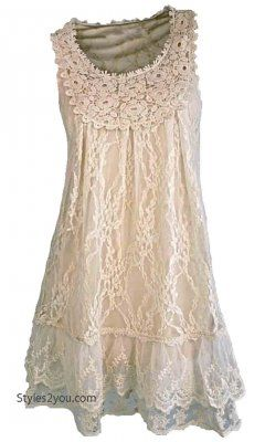 Pretty Angel Anita Antique Lace Tunic