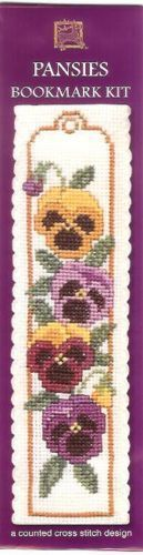 Pansies Bookmark Cross Stitch Kit - Textile Heritage