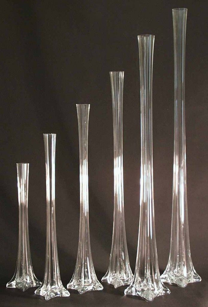 Clear Eiffel Tower Vases An Option For Elevating The Buffet Arrangement