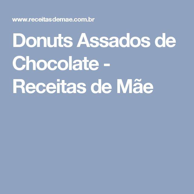 Donuts Assados de Chocolate - Receitas de Mãe