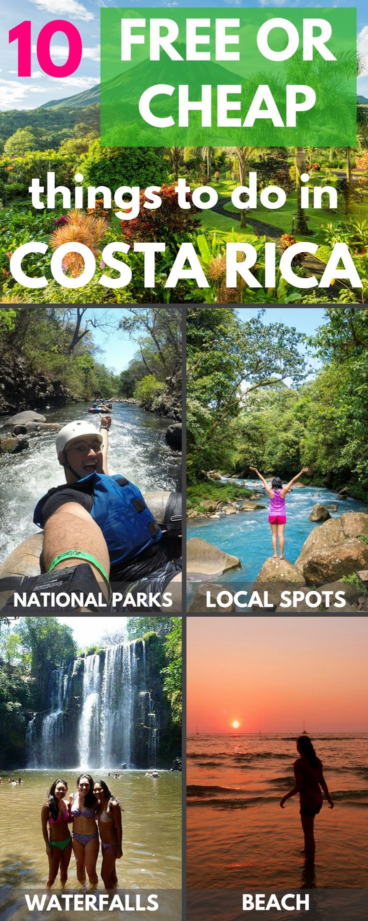 10 free or cheap things to do in Costa Rica. Click through to read: https://mytanfeet.com/activities/10-cheap-things-to-do-in-costa-rica/ Costa Rica | Costa Rica travel blog | Things to do in Costa Rica
