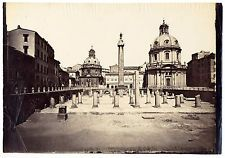 Rome Forum Oversized original albumen photo unmounted 1860c Roma Italy