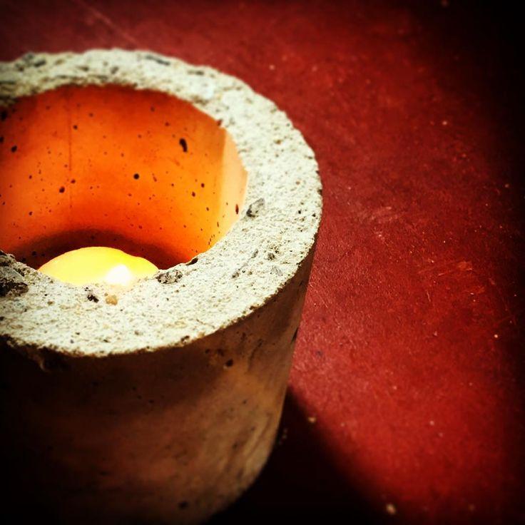 Concrete experiments #concrete #planter #pot
