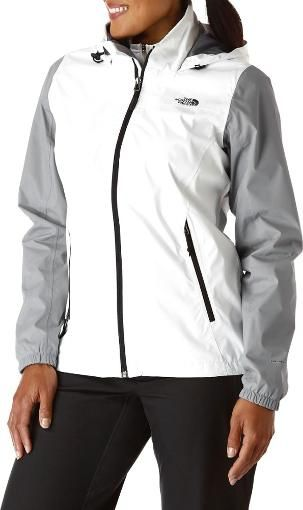 0cf9f7651ae6b The North Face Resolve Plus Rain Jacket - Women s Tnf White Mid Grey