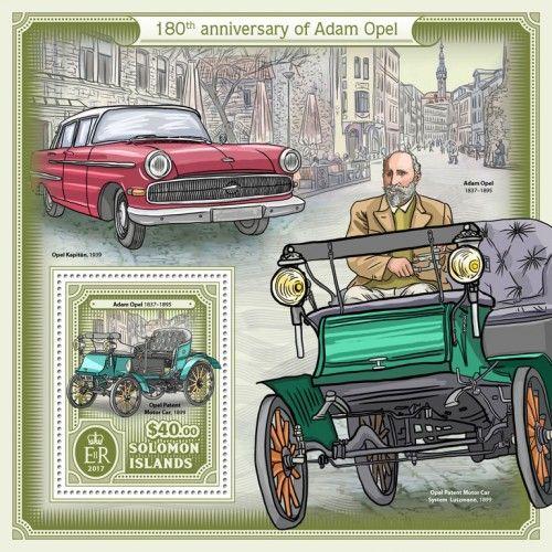 SLM17112b 180th anniversary of Adam Opel (Adam Opel (1837–1895), Opel Patent Motor Car, 1899)