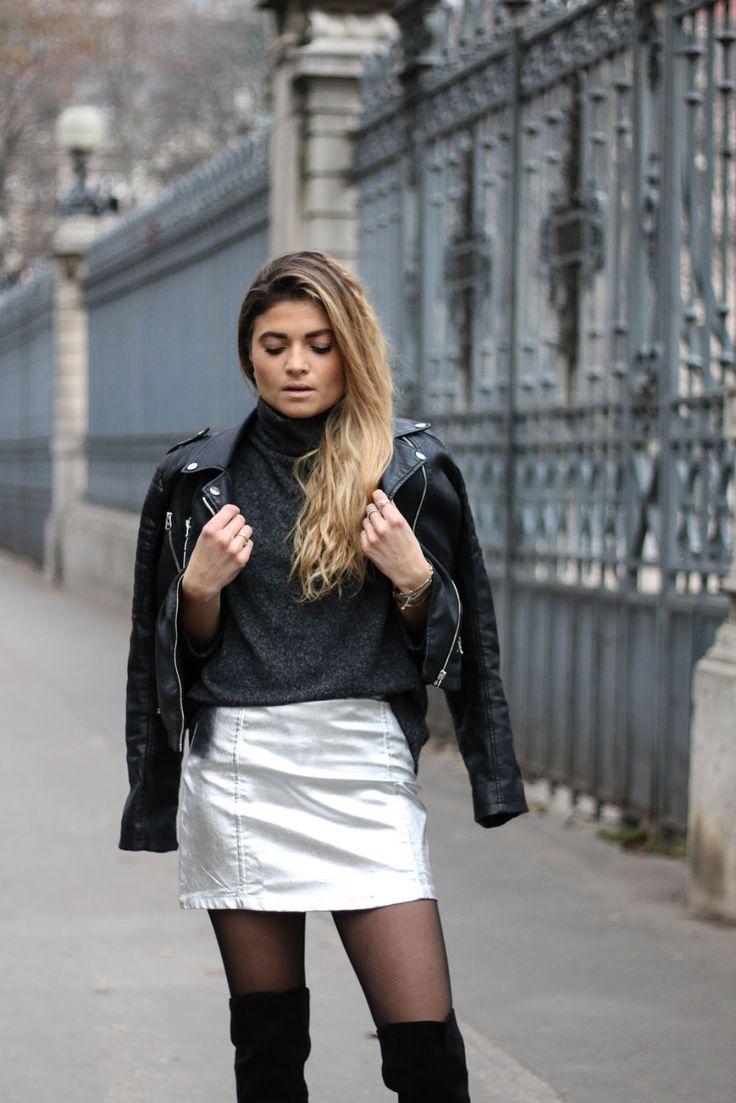 Tenue de fête jupe argentée / MarieandMood / DECEMBER2016 / Look