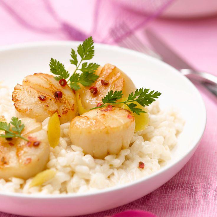 Risotto aux Saint-Jacques, facile : recette sur Cuisine Actuelle