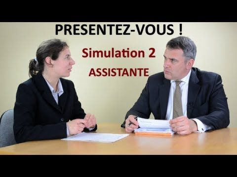 """Entretien d'embauche simulation 2. Exemple de réponse à la question """"présentez-vous"""" """"Parlez-moi de vous"""" ou """"Je vous écoute"""" avant et après coaching. Plus d..."""