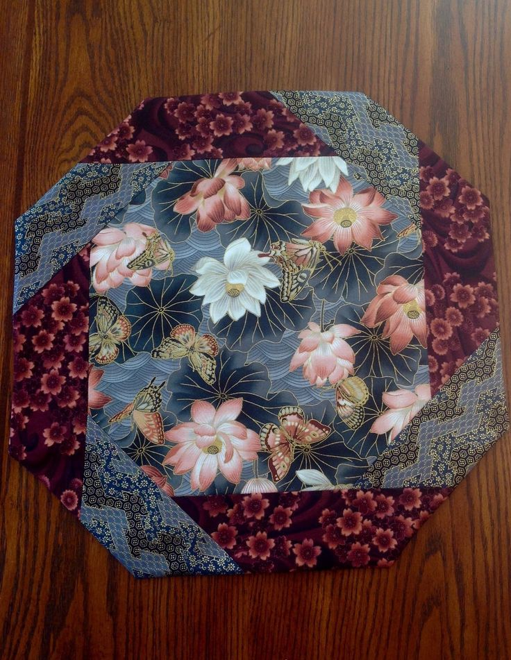 A personal favorite from my Etsy shop https://www.etsy.com/listing/269164741/table-topper-octagonal-butterflies-lily