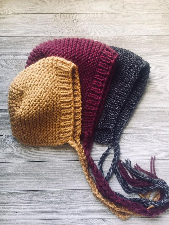 Baby Bonnet Knitting Pattern, Simple Knitting Pattern Baby Hat, Kids hat knitting pattern, Beginners Knitting Pattern,