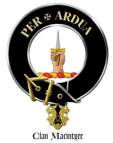 McIntyre / MacIntyre Clan Crest - Per Ardua means 'Through Difficulties'