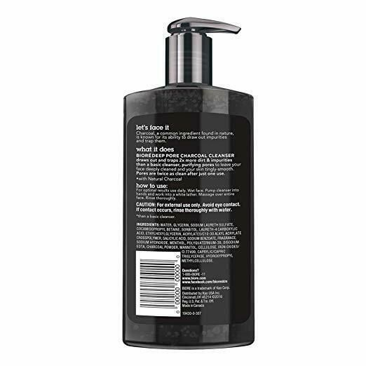 Biore Deep Pore Charcoal Cleanser for oily skin 6