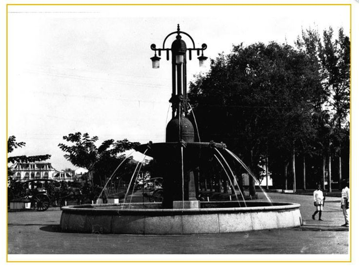 The Nienhuys fountain, Medan 1918-1919