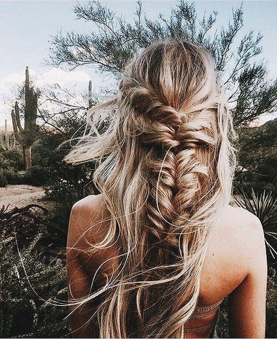 #hairstyle // fishtail braid // pretty hair // pretty braid // pretty hair style //