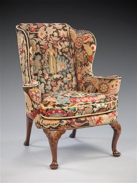 A george ii walnut wing chair art antiques online cinoa