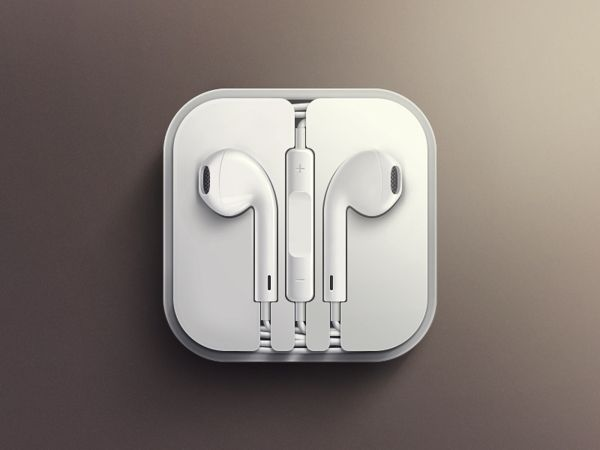 EarPods iOS icon by geldy , via Behance