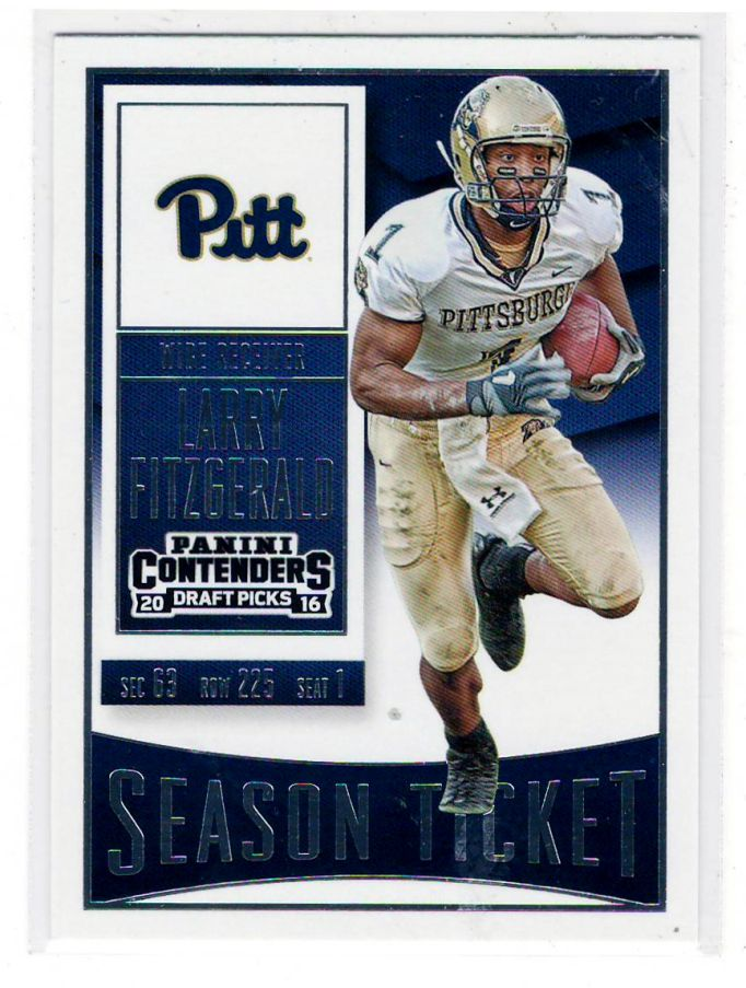 Sports Cards Football – 2016 Panini Contenders (Season Ticket) / 2007 UD (Flashback) Larry Fitzgerald – 2 Card Lot