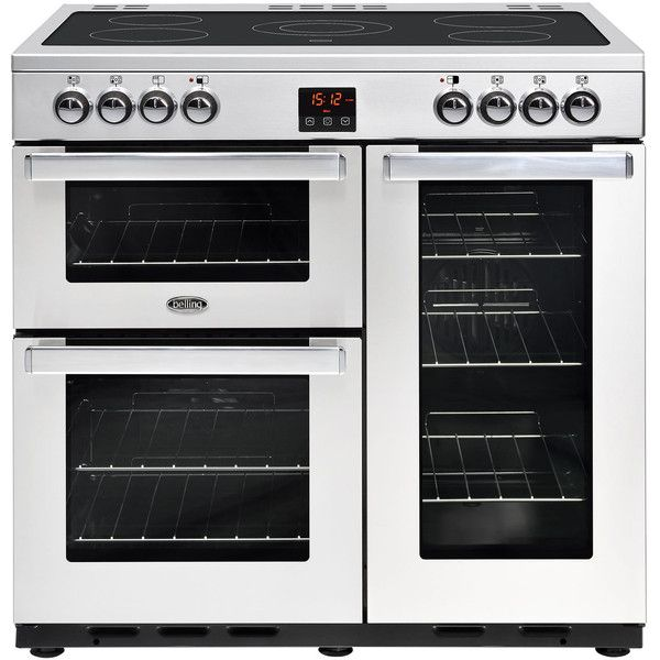 Cookcentre90EProf_SS   Belling range cooker   ao.com (3.599.605 COP) ❤ liked on Polyvore featuring home and kitchen & dining