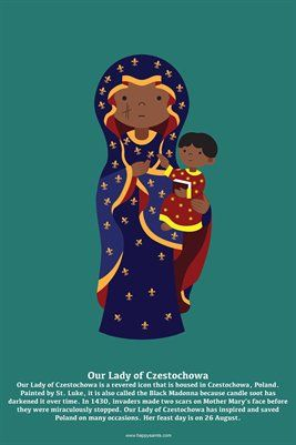 Happy Saints Mother Mary Posters: Happy Saints Our Lady of Czestochowa Poster, $5.00 from MagCloud