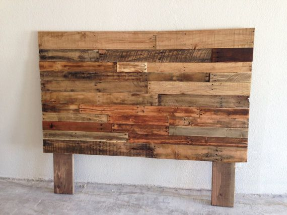 Reclaimed recycled pallet wood headboard head board king queen full twin  cali california beach house cabin - 107 Best Images About Home // Master Bedroom On Pinterest Master