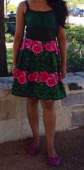 Another dress I made out of Jan Krentz for Timeless Treasures Fabrics.