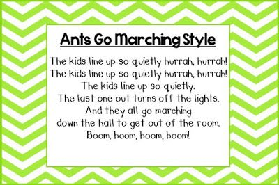 Freebie - Classroom Management - Transition Songs for Lining Up                                                                                                                                                                                 More