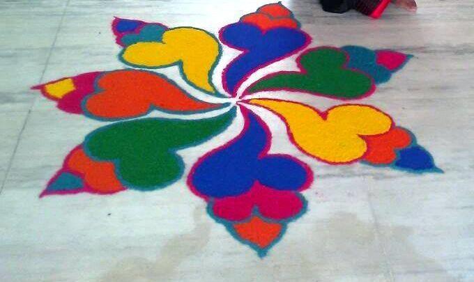 Simple and easy rangoli designs #rangolidesigns
