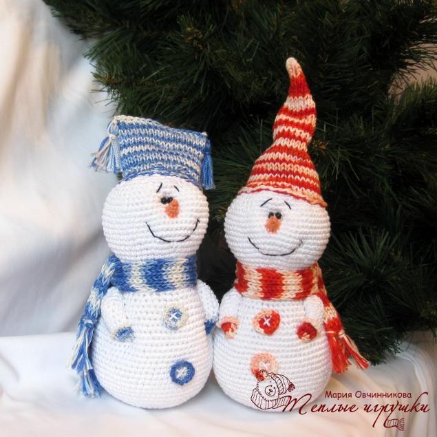 #haken, gratis patroon (Rusland?), sneeuwman, foto tutorial, kerstmis, #crochet, free pattern (Russia?), photo tutorial, snowmen, x-mas, christmas
