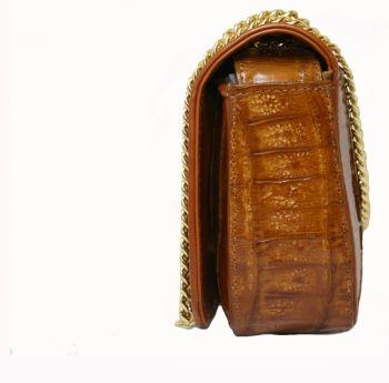 #Bolso de cocodrilo auténtico en color camel. Modelo Sibaris