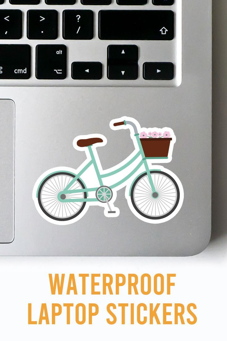 Pastel Green Bicycle Sticker For Your Car Laptop Notebook Phone Window Or Water Bottle The Sticker Cool Laptop Stickers Green Bicycle Waterproof Stickers [ 1104 x 736 Pixel ]