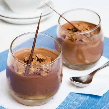 Pannacotta med en gräddig smak av choklad.